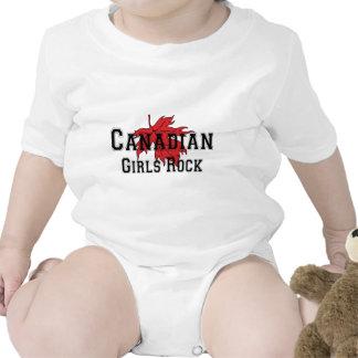 Bebê canadense da camisa da rocha T das meninas