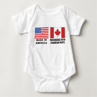 Bebê canadense do t-shirt