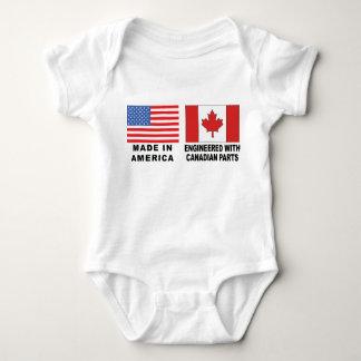 Bebê canadense do t-shirt body para bebê
