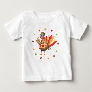 Bebê canadense Turquia da acção de graças Camiseta Para Bebê