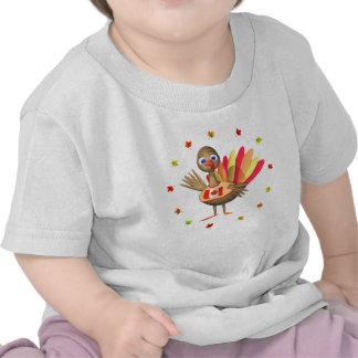 Bebê canadense Turquia da acção de graças Camiseta