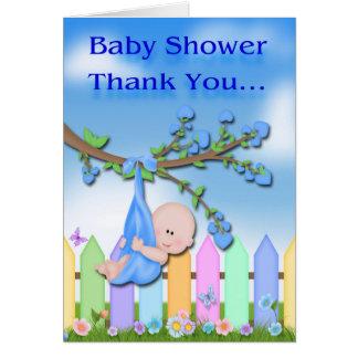 Bebé - cartões de agradecimentos do chá de fraldas