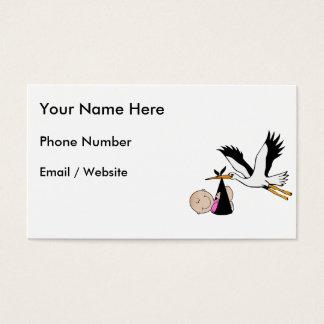 Bebé & cegonha - recém-nascidos cartão de visitas