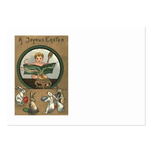 Bebê colorido pintado decorado coelhinho da Páscoa Modelo Cartão De Visita