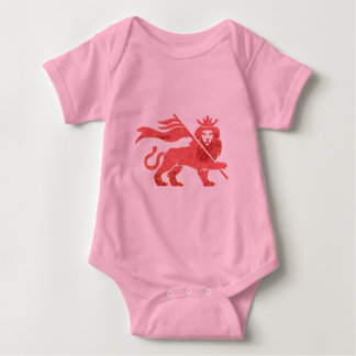 Bebê cor-de-rosa do rasta body para bebê