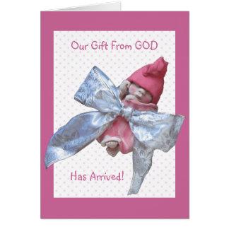 Bebê da argila: Anúncio do nascimento: Nosso Cartão Comemorativo