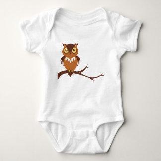 Bebê da coruja body para bebê