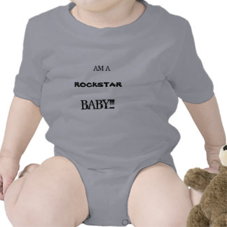 Bebê da estrela do rock macacãozinho para bebês