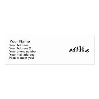 Bebê da evolução cartões de visita