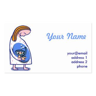 bebê da maternidade da gravidez cartão de visita