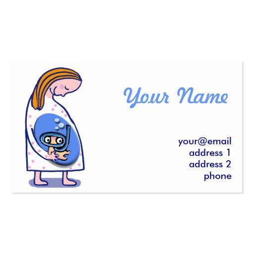 bebê da maternidade da gravidez cartao de visita