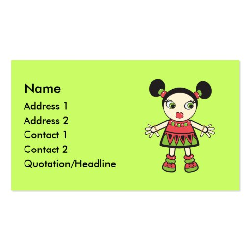 Bebê da melancia modelo cartão de visita