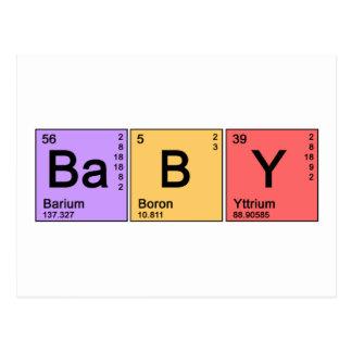 Bebê da química cartão postal