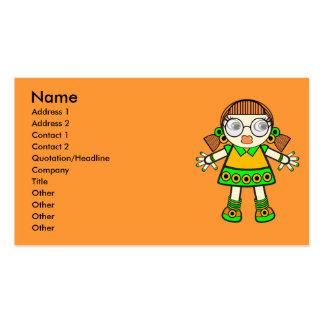 bebê da tangerina. cartão de visita