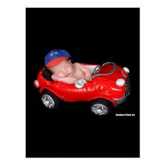 Bebê de competência recém-nascido cartão postal