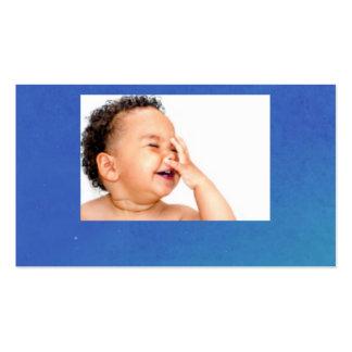 bebê de riso cartão de visita