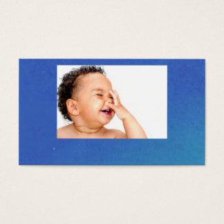 bebê de riso cartão de visitas