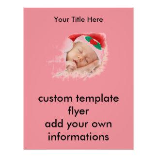 Bebê de sono do papai noel panfletos personalizados