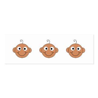 Bebê de sorriso bonito cartão de visita skinny