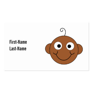 Bebê de sorriso bonito cartão de visita