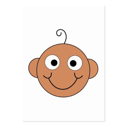 Bebê de sorriso bonito cartoes de visitas