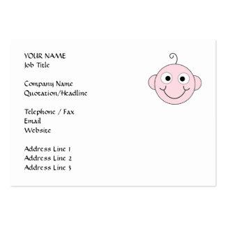 Bebê de sorriso bonito cartão de visita grande
