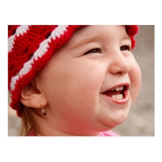 Bebé de sorriso cartão postal