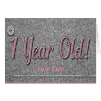 Bebê de um ano cartão