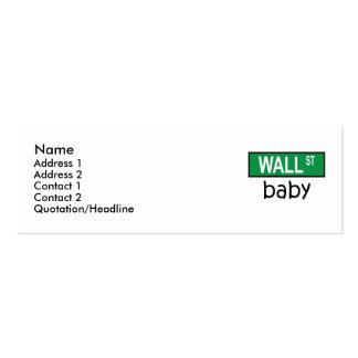 Bebê de WALL STREET - cartão de visita