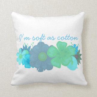 Bebê do algodão eu sou macio como o travesseiro almofada