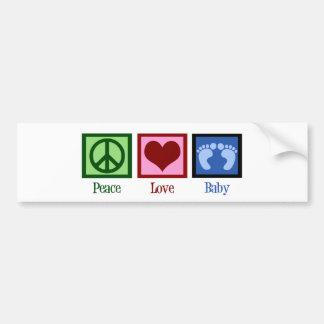 Bebé do amor da paz adesivo
