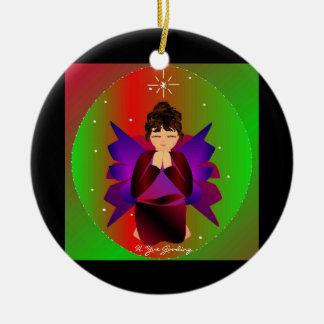 Bebê do anjo do Natal em todo o mundo no preto Enfeites Para Arvores De Natal