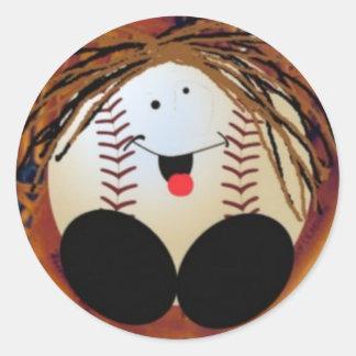 Bebê do basebol adesivo redondo