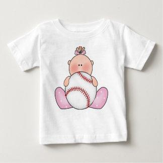 Bebé do basebol de Lil Camiseta Para Bebê
