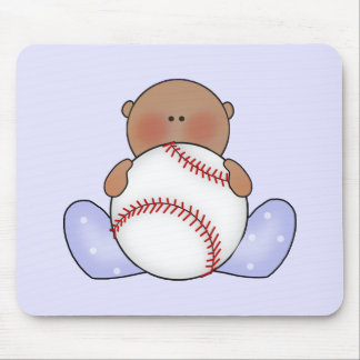 Bebé do basebol de Lil - étnico Mouse Pad