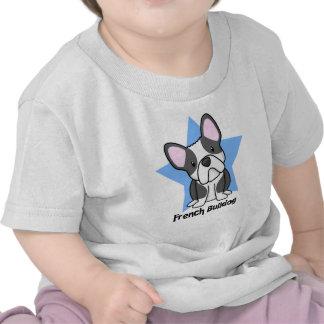 Bebê do buldogue francês de BW da estrela de Camisetas