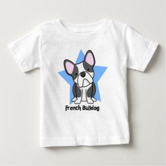 Bebê do buldogue francês de BW da estrela de Camiseta Para Bebê