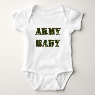 Bebê do exército body para bebê