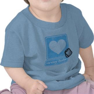 Bebê do exército boy camiseta