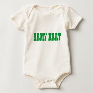 bebê do exército macacão