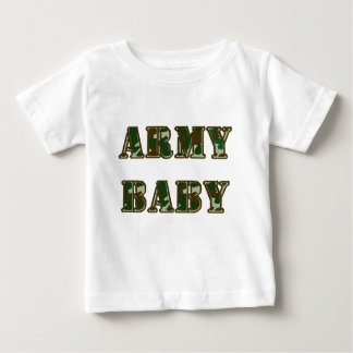 Bebê do exército camiseta para bebê