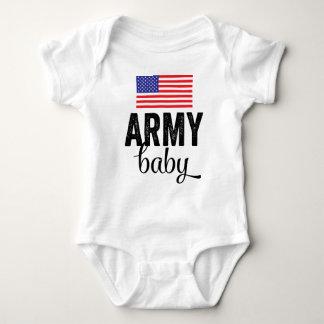Bebê do exército com bandeira dos EUA Body Para Bebê