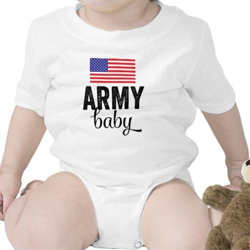 Bebê do exército com bandeira dos EUA Macacãozinho