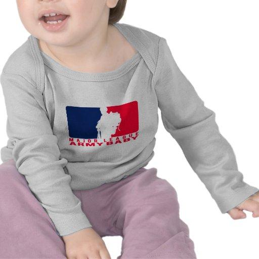 Bebê do exército da liga principal tshirts