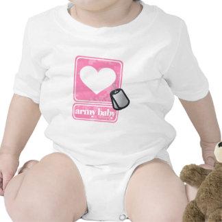Bebê do exército (menina) tshirts
