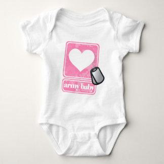 Bebê do exército (menina) t-shirt