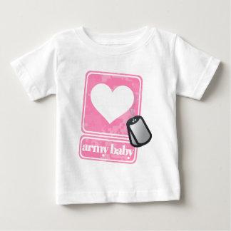 Bebê do exército (menina) camiseta para bebê