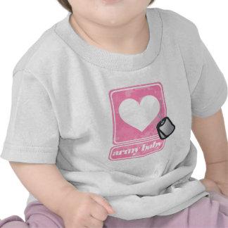 Bebê do exército menina t-shirts