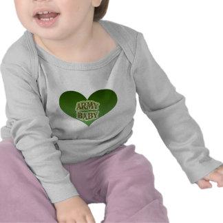 Bebê do exército camiseta
