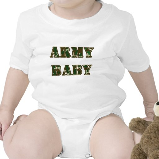 Bebê do exército macacões